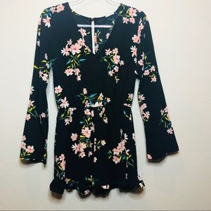 Anthropologie Pins and Needles Floral Romper A1